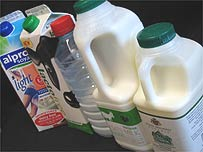 A selection of milk