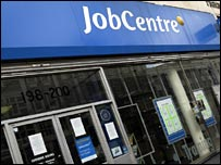 The exterior of a job centre