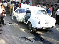 The car used by the suspected militants