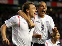 John Terry and Rio Ferdinand of England
