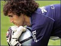 Goalkeeper Hilario