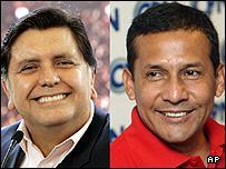 Peruvian Presidential Candidates Alan Garcia (L) and Ollanta Humala (R)