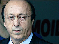 Former Juventus general manager Luciano Moggi