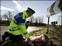 Policeman at roadside