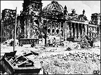 Reichstag at the end of World War II