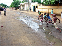 Street football in Lome