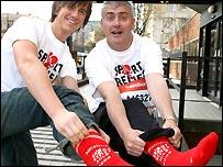 Richard Fleeshman signs up for Sport Relief in Manchester