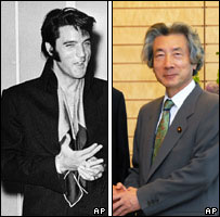 Elvis Presley in 1969 and Mr Koizumi in 2005