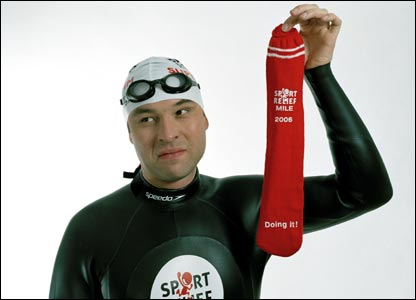 Little Britain star David Walliams is attempting to swim across the English Channel for Sport Relief
