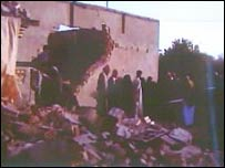 A still from the video footage obtained by the BBC