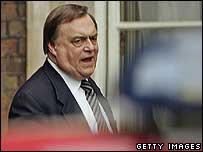 John Prescott (outside Admiralty House on 1 June 2006)