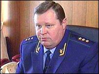 Russian prosecutor-general, Vladimir Ustinov, before his dismissal