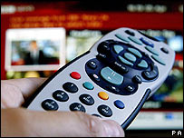 TV screen and remote control