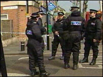 Police at Lansdown Road, Forest Gate