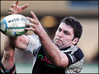 Glasgow's new signing Andy Newman in action for Ospreys