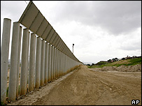 Unfinished section of US-Mexico border fence