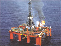 Oil rig Bulford Dolphin off the shore of Nigeria
