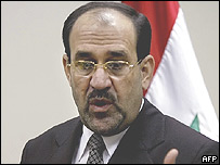 El primer ministro de Irak, Nouri Maliki.