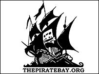 Logo of The Pirate Bay