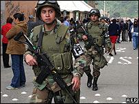 Soldiers in Bogota