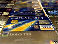 A selection of Lloyds and Barclayclard credit cards