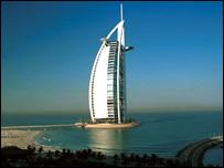 Burj Alarab hotel in Dubai (BBC)