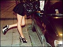 A prostitute at work in Munich
