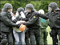 German police rehearse anti-riot drills
