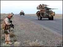US marine patrol near Falluja