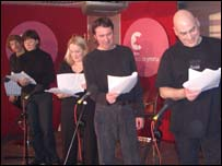 Cast drama radio Dyddiadur Dyn Dwad