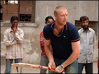 'Freddie' Flintoff was on hand to offer the Red Socks some valuable tips