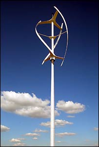 The helix shaped 'Quiet Revolution' turbine