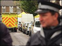 Police at scene of raid