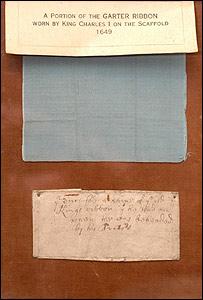 King Charles I's garter