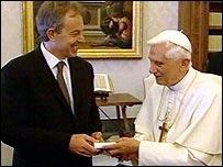 Tony Blair and Pope Benedict XVI