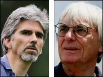 Hill (left) and Ecclestone (right) could sort out the future of the British Grand Prix