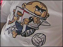 Mark's cartoon Rooney t-shirt