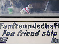 Fan friendship sticker on the van