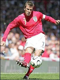 England captain David Beckham