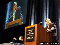 John Prescott makes a speech at the Congress for the New Urbanism convention