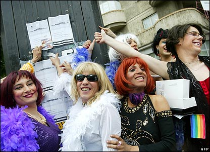 Transvestites in Bucharest