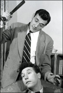 Eric Sykes performing with Frankie Howerd in 1951