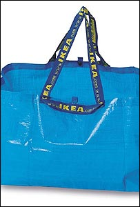 Ikea's own reusable blue bag