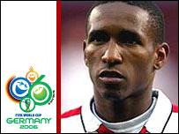 England striker Jermain Defoe