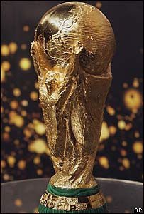 El trofeo original de la Copa Mundial de Fútbol