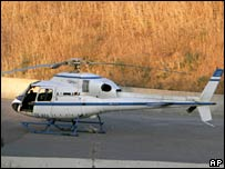 The helicopter that was used in the June jailbreak