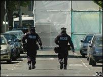 Scene of police raid