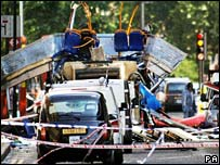 The bus explosion in Tavistock Square.