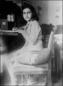 Anne Frank at desk