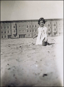 Anne on the beach in 1934
